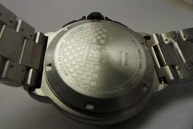 replica Tag Heuer Formula 1 Case Back